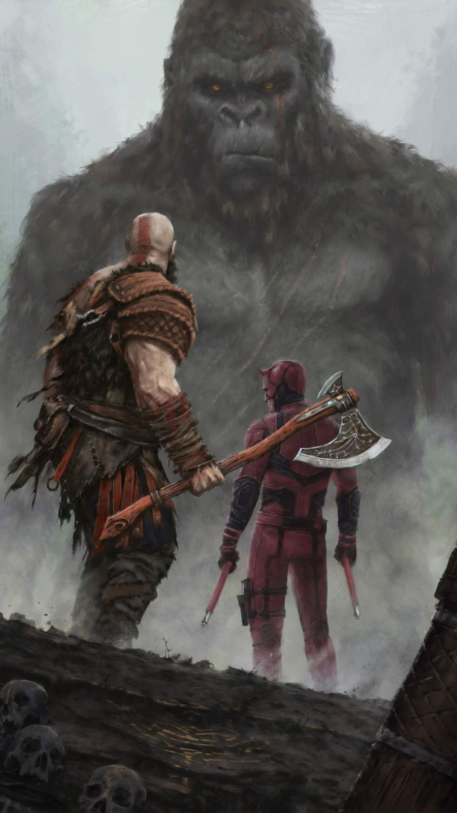 Cute Girly Infinity Wallpapers Kratos And Dare Devil Vs King Kong Iphone Wallpaper
