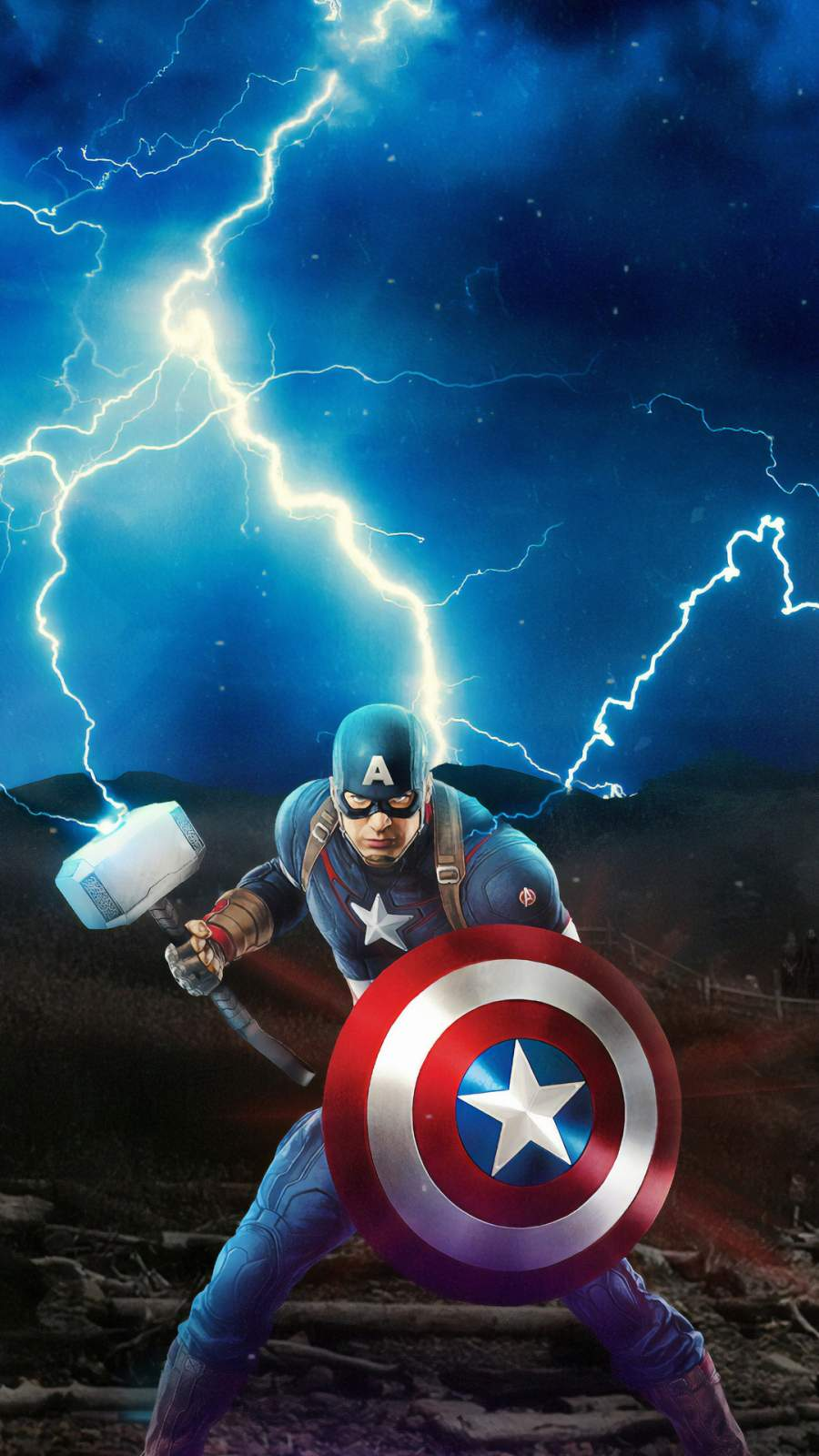 Artistic Quotes Wallpaper Captain America Mjolnir Avengers Iphone Wallpaper Iphone