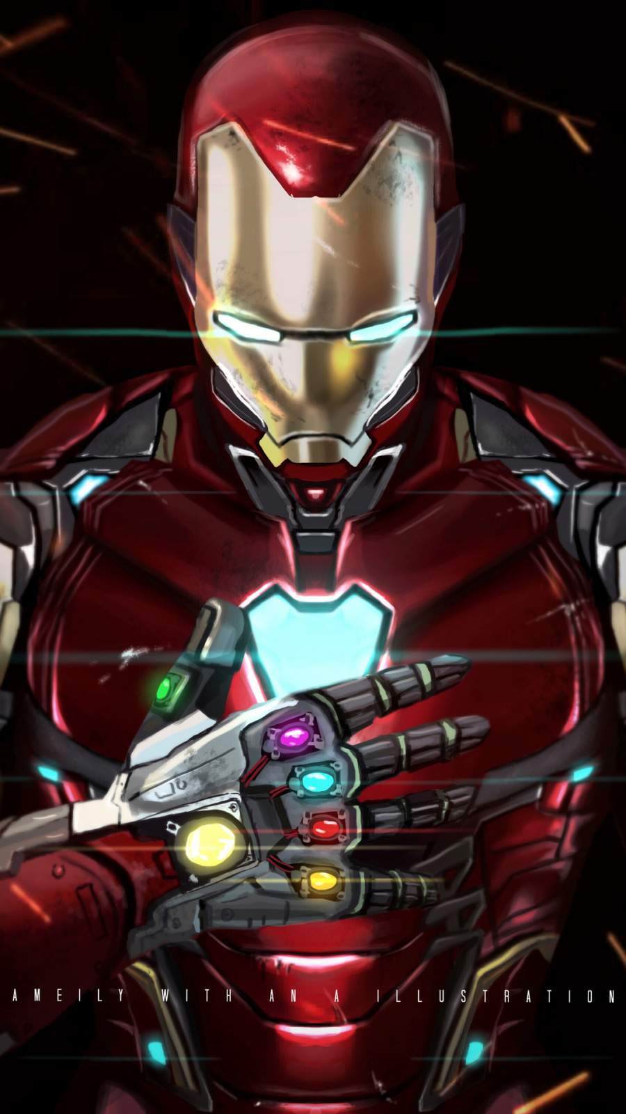 I Love You Quotes With Wallpapers Iron Man With Infinity Gauntlet Iphone Wallpaper Iphone
