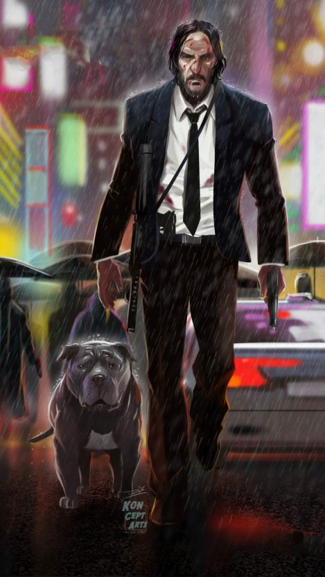 Cute Dog Phone Wallpapers John Wick And Dog Iphone Wallpaper Iphone Wallpapers