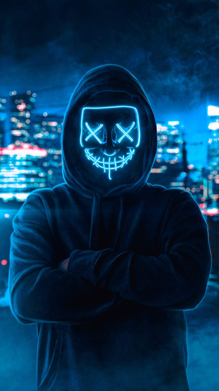 Love Wallpaper For Iphone 5 Neon Mask Hoodie Guy Iphone Wallpaper Iphone Wallpapers