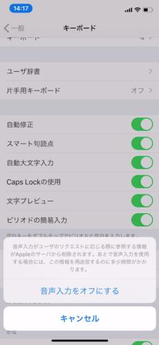 iPhoneの音声入力ができない!?オン・オフに変更する方法!!14