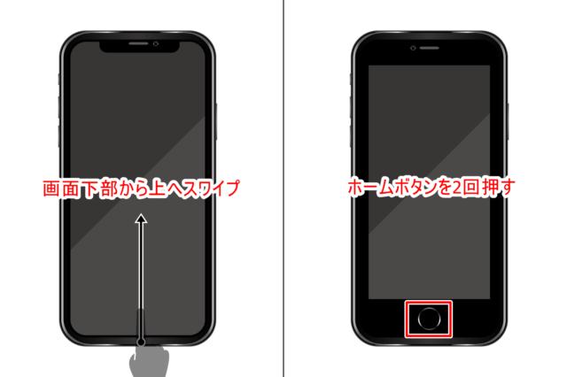 iPhoneのアプリを一旦終了する