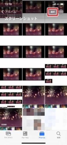 メディアタイプ内のすべての写真を削除する (2)