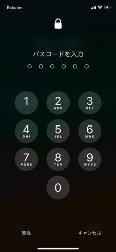 iPhoneのパスコードを設定する (7)