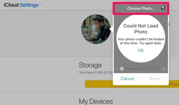 Как изменить изображение профиля Apple ID в iCloud