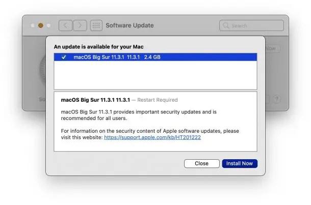 macOS Big Sur 11.3.1