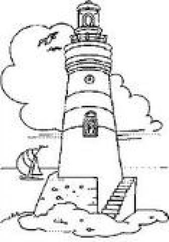 Leuchtturm Zum Ausmalen - Vorlagen zum Ausmalen gratis