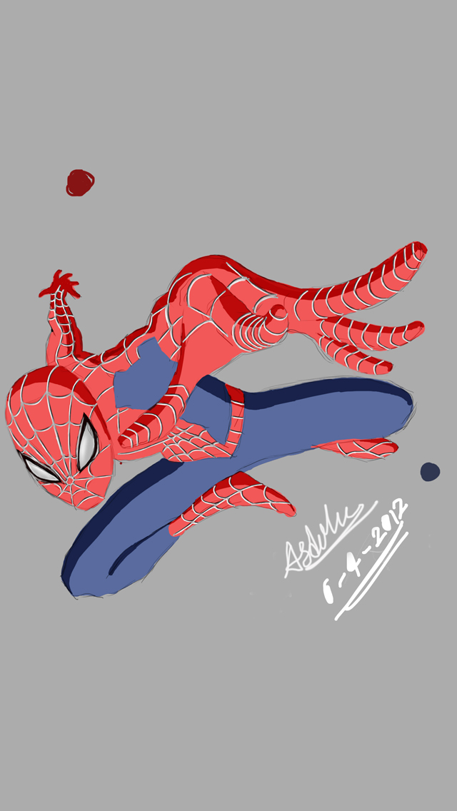 Spiderman Cartoon Grey Wallpaper Hd Iphone 5 Wallpapers