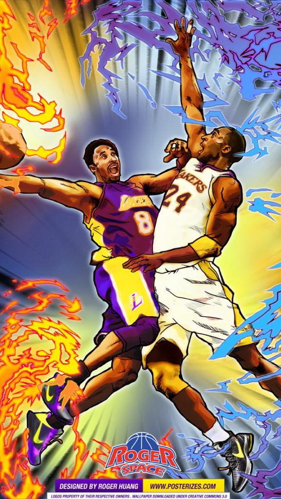 Miami Heat Wallpaper Iphone X Kobe 8 Vs Kobe 24 Wallpaper Posterizes Nba Wallpapers