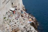 Suntanning in Dubrovnik
