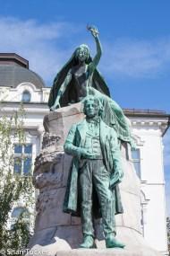 Statues Ljubljana, Slovenia