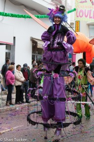 Stilts dancers