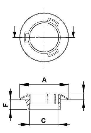 Snap cable bushing FP-0132