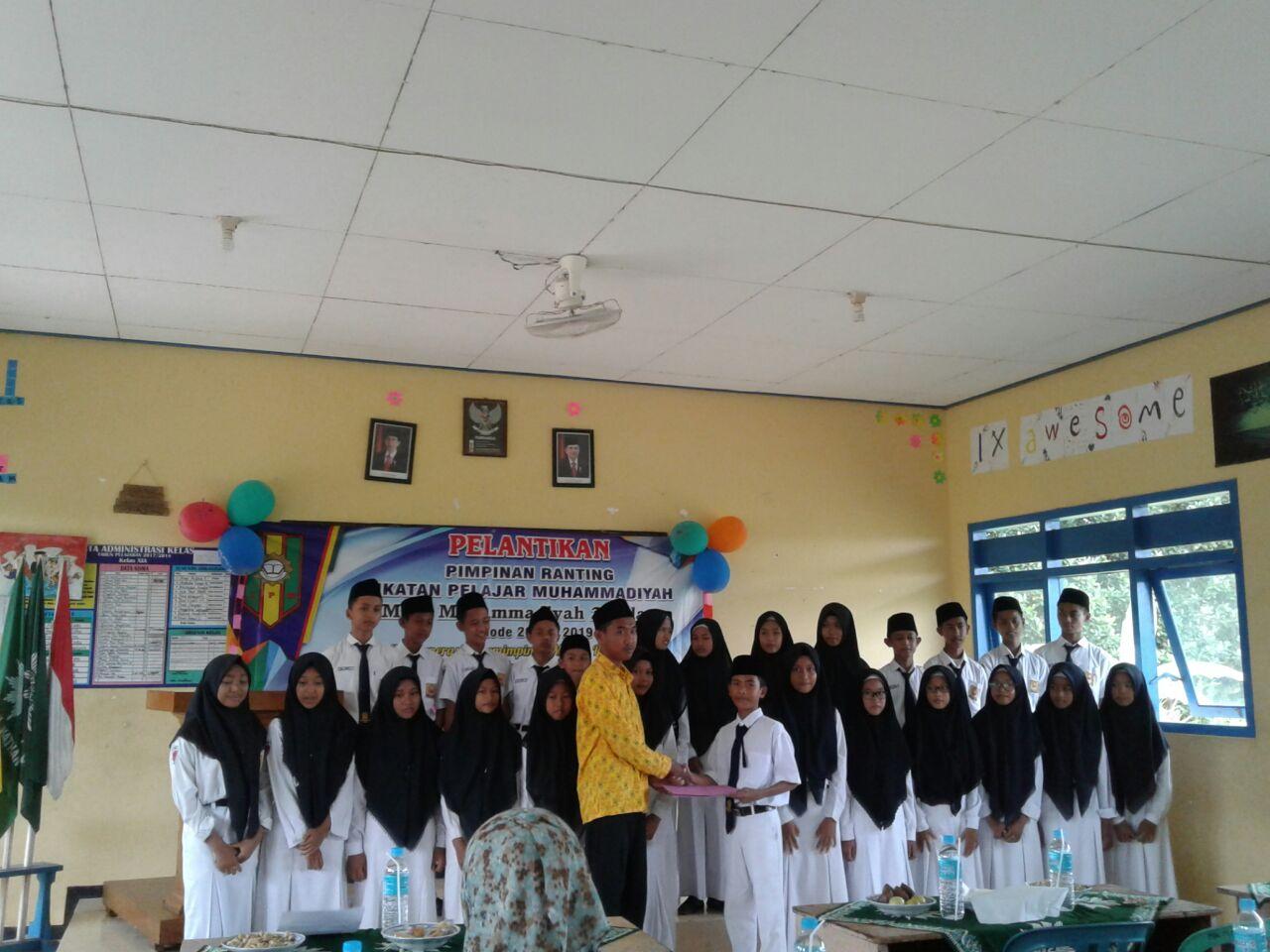 Menuju Perubahan Lebih Baik, IPM MTs Muhammadiyah 2 Palang Lantik Pimpinan Barunya