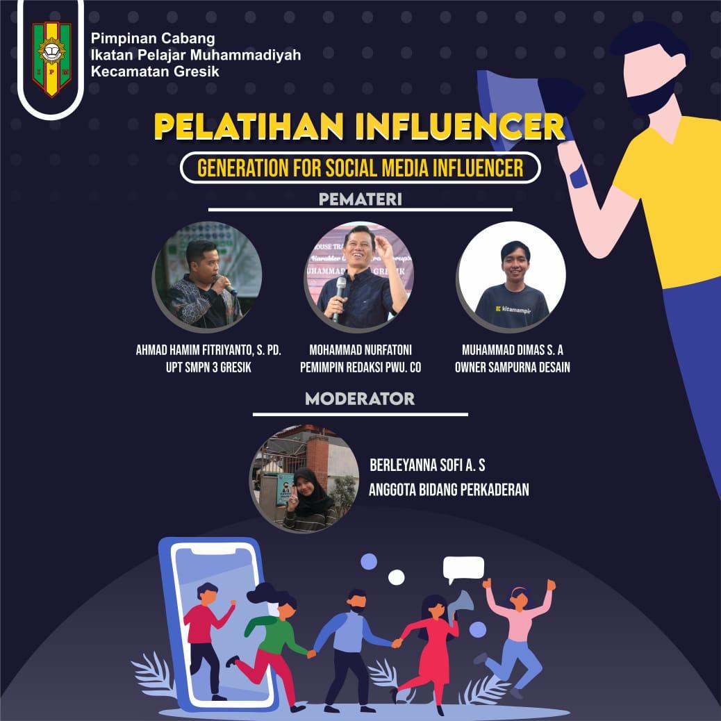 Cetak Influencer Muda Muhammadiyah, PC IPM Gresik Adakan Pelatihan Influencer