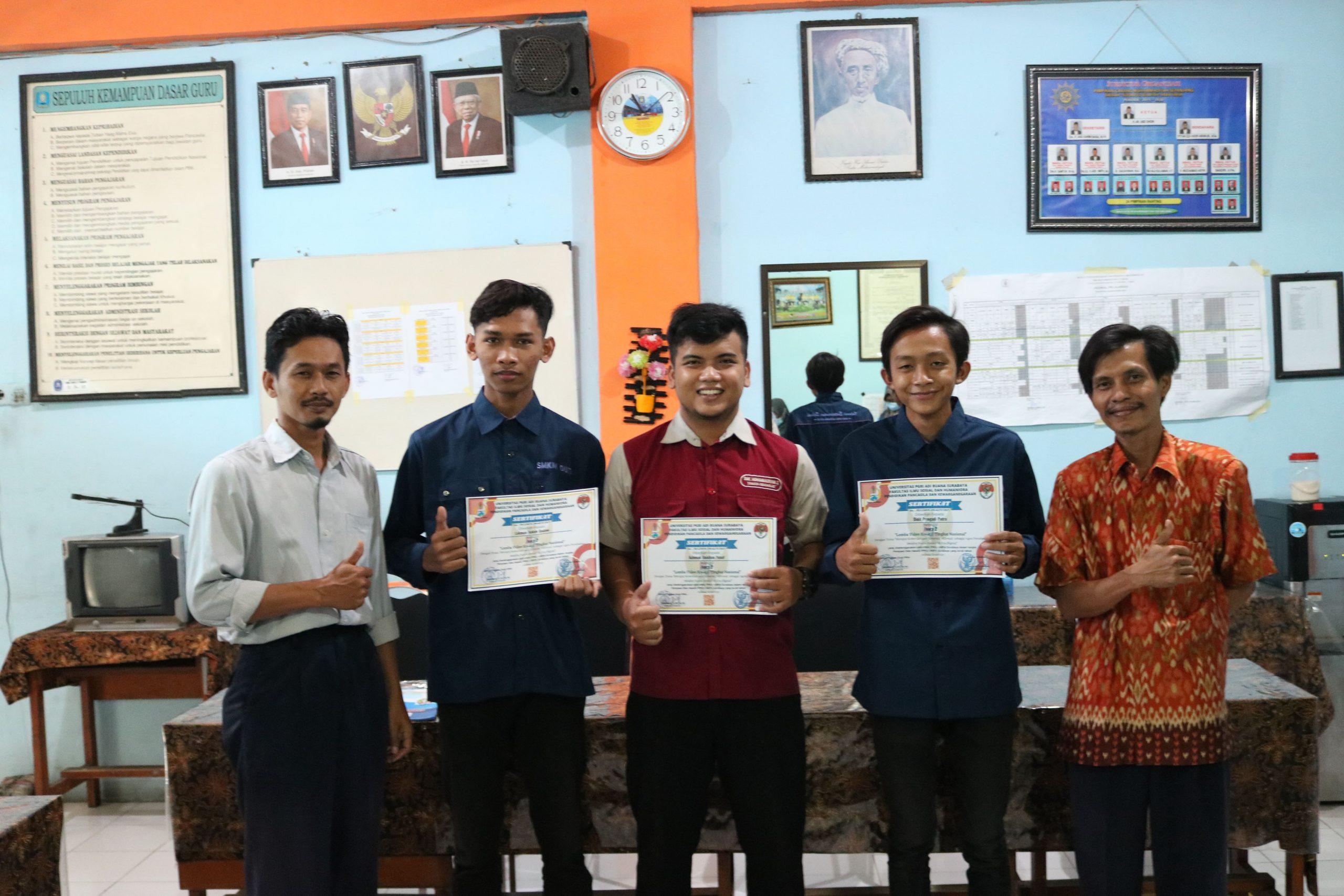 Inspiratif! IPM SMK Muhammadiyah 2 Taman Menangkan Dua Kejuaraan Tingkat Nasional