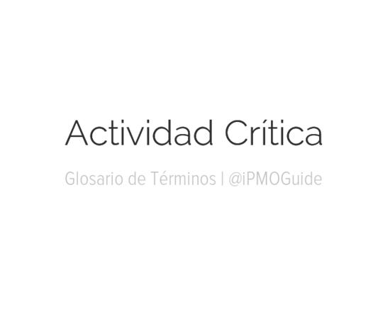Actividad Crítica