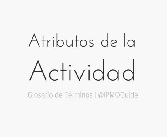 Atributos de la Actividad