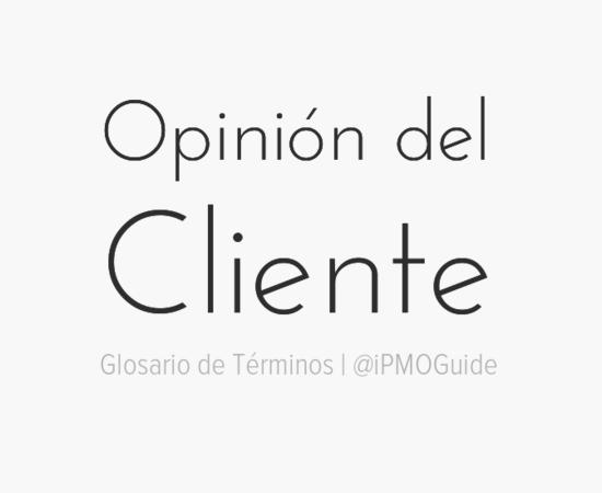 Opinión del Cliente