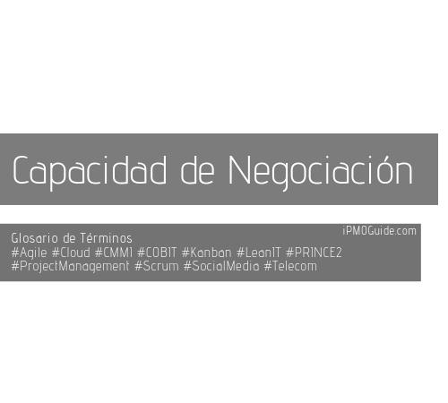 Capacidad de Negociación