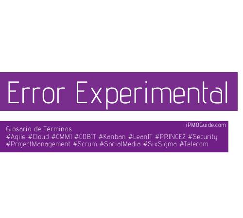 Error Experimental