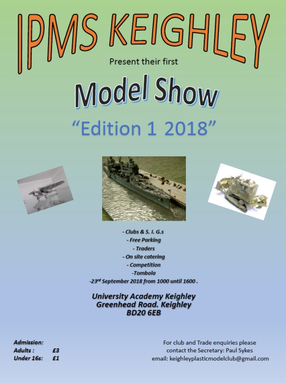 Keighley Model Show 2018 flyer