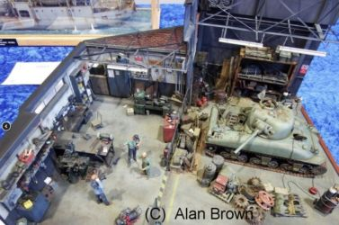 Diorama competion entry - Tank Workshop - Photo Alan Brown