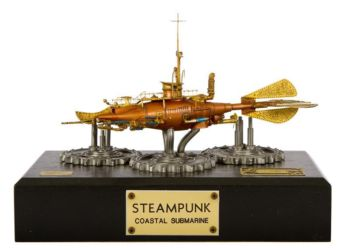 Class 72 Gold - Steampunk Coastal Submarine by Maurizio Barbalucca