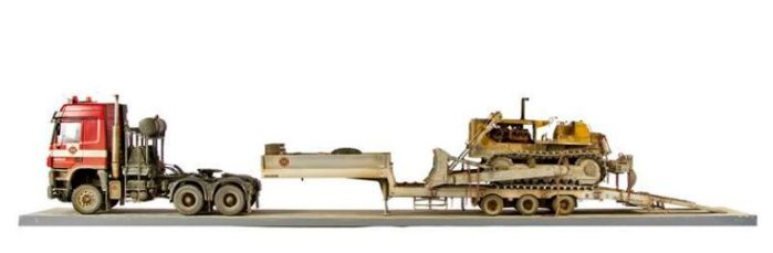 Class 50 Gold - Mercedes Actros and Trailer Cat Bulldozer by Neale Parsons