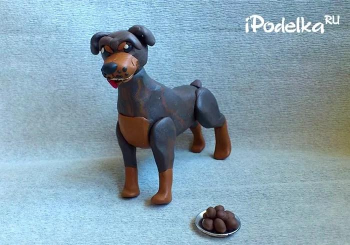 Rottweiler từ plasticine.