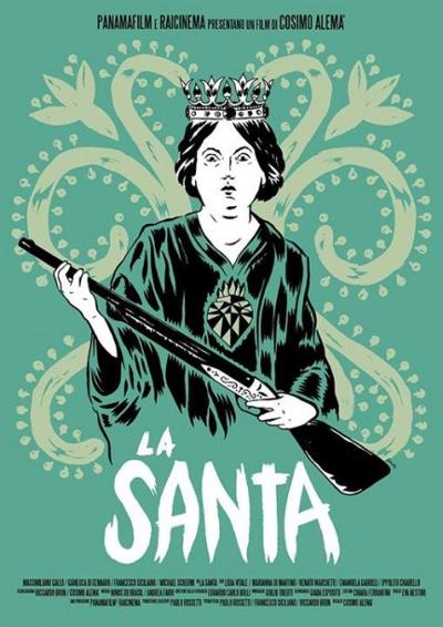 Locandina de La Santa, disegnata da Guitar_Boy (da Cineblog.it)