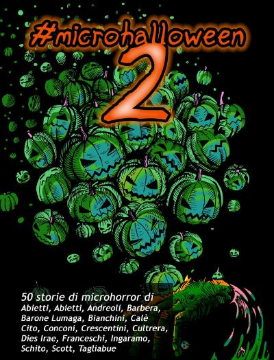 La copertina di #microhalloween2, di Daniele Aimasso e Yuri Abietti