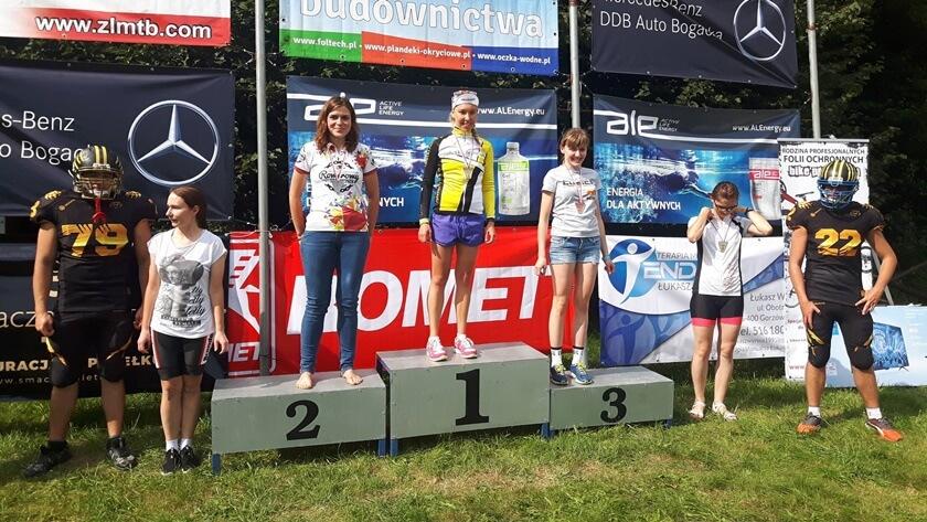Milena Bogucka na najwyższym stopniu podium