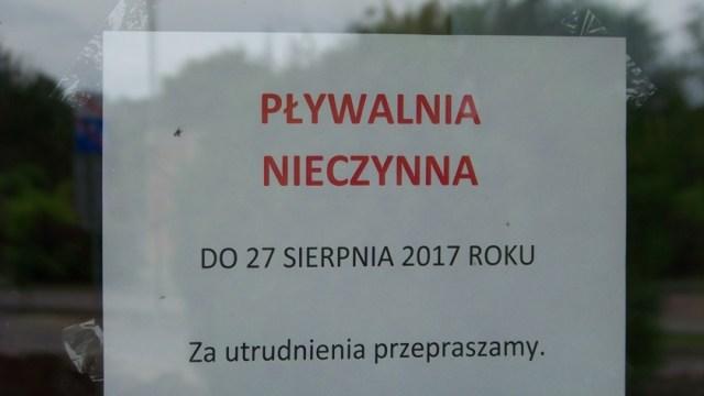 basen w Policach nieczynny do 27 sierpnia