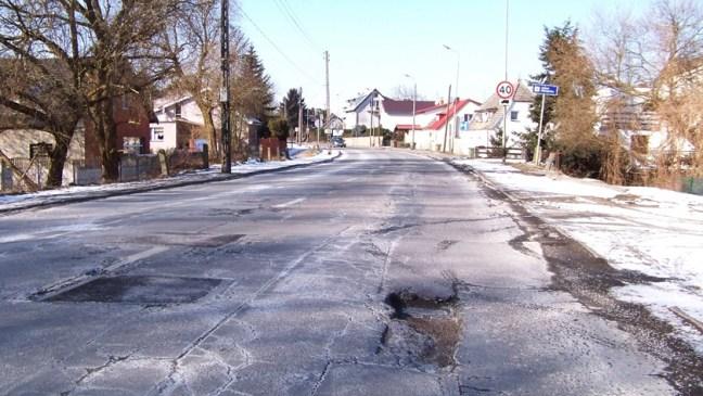 ulica Nadbrzeżna w Policach