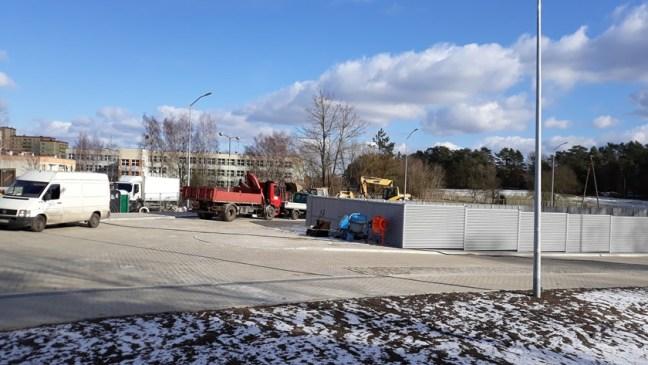 budowa pętli autobusowej przy ul. Wyszyńskiego w Policach