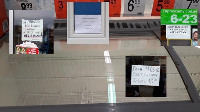 puste lodówki w sklepie