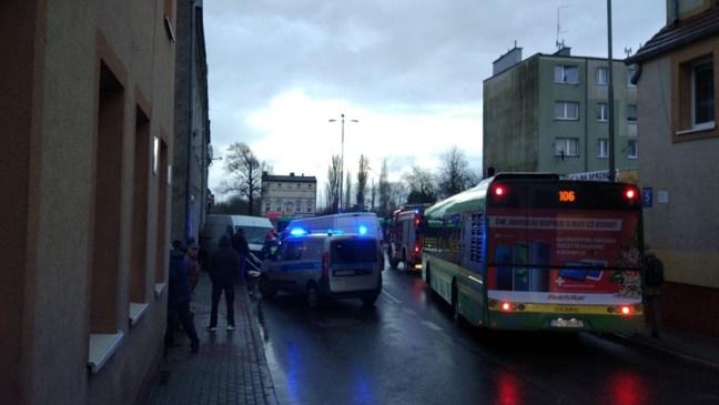 wypadek na ul. Grunwaldzkiej w Policach