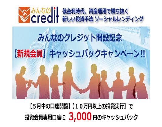 みんなのクレジット キャンペーン