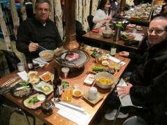 Korean Barbeque Areleh and Brad