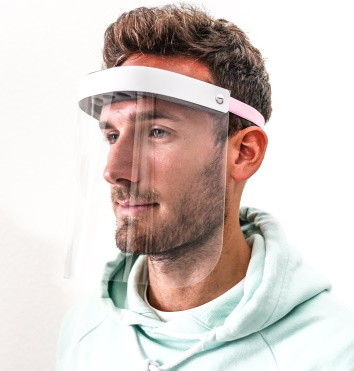 Gesichtsschutzschild / Gesichtsvisier für Arzt, Zahnarzt, Pflegedienst, Klinik, sofort lieferbar