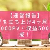 【運営報告】ブログを立ち上げ4ヶ月!アクセス9000PV・収益5000円達成!
