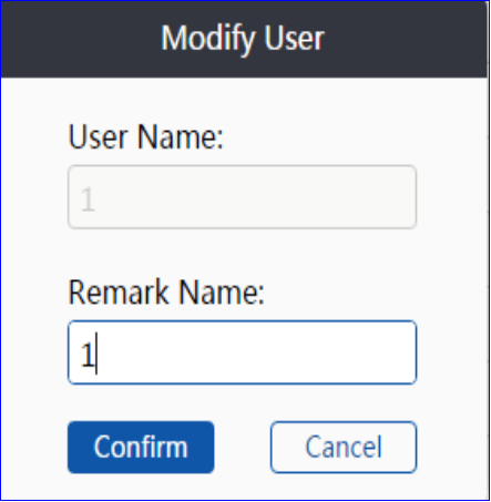 Modify user