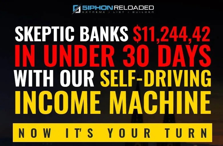 5iphon Product headline: Skeptic banks $11,000+ in Under 30 days with our self-driving income machine.
