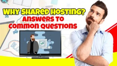 Featured image which suggests how to use shared hosting.