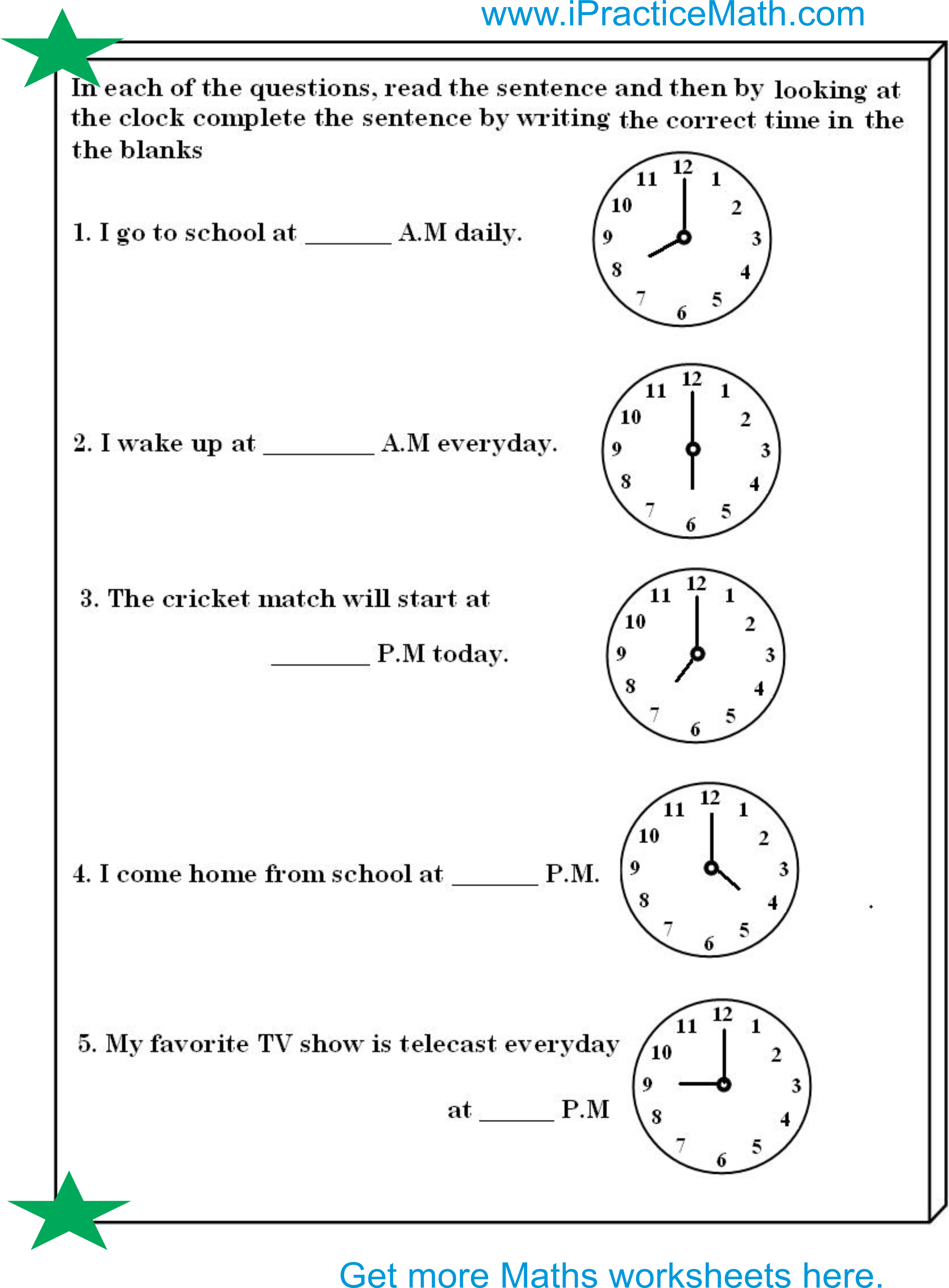 3 3rd Grade Elapsed Time Worksheets