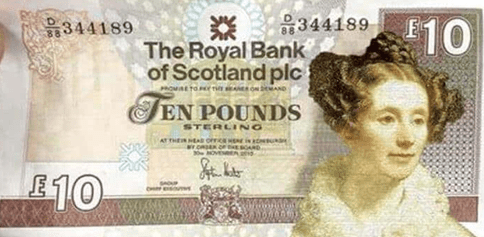 Somerville has been on the Royal Bank of Scotland's £10 ile ilgili görsel sonucu