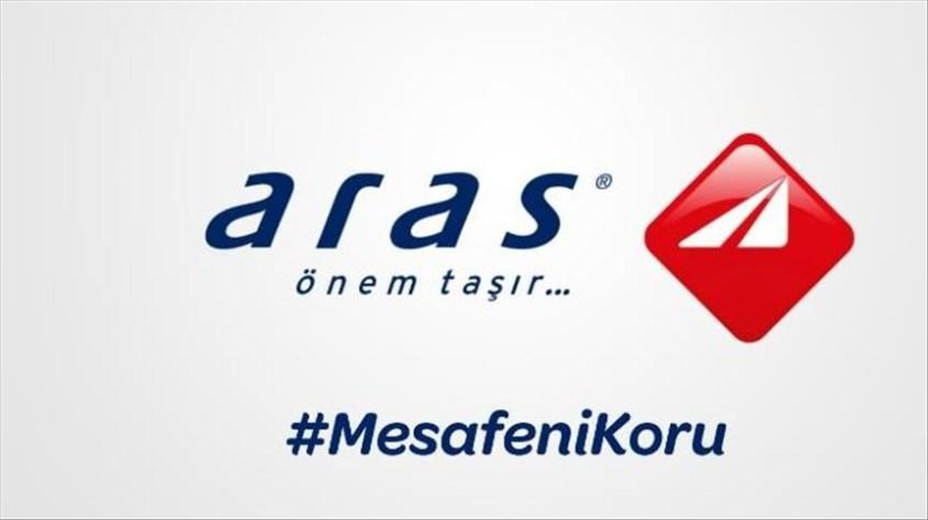 Aras Kargo, logosunu ayırarak sosyal mesafeye dikkati çekti