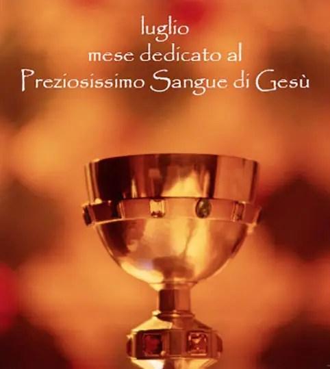 1 luglio: festa del Preziosissimo Sangue di Gesù